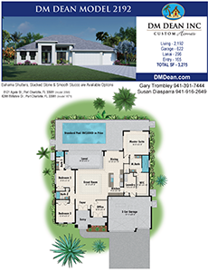 DM Dean Custom Home Builder Floor Plan 2192 Coastal