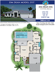 DM Dean Custom Home Builder Floor Plan