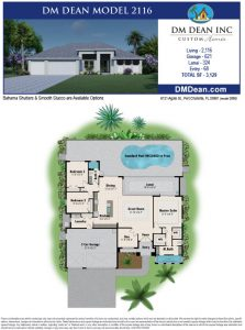 DM Dean Custom Home Builder Floor Plan 2116