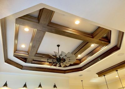 DM Dean custom designed home with custom coffered ceiling